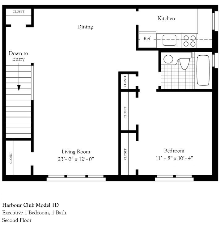 Harbor Club Apartments: Harbour Club Model 1D