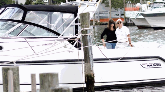 Nick and JoAnn Radesca on Their Boston Whaler